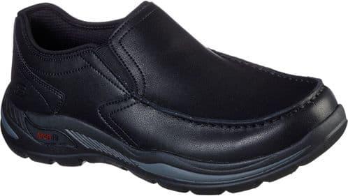 Skechers Arch Fit Motley Hust Slip On Mens Shoes Black